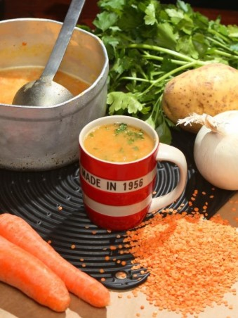 Mary Contini's Good old fashioned lentil soup