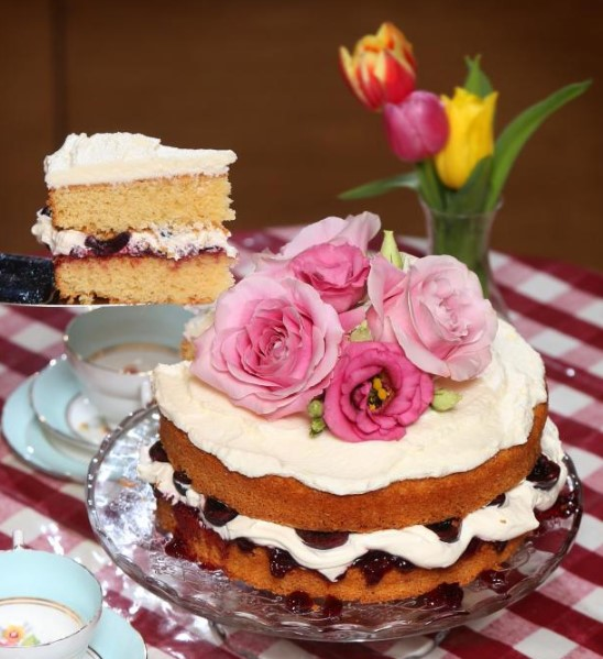 Mary Contini's Easter Cherry Cake