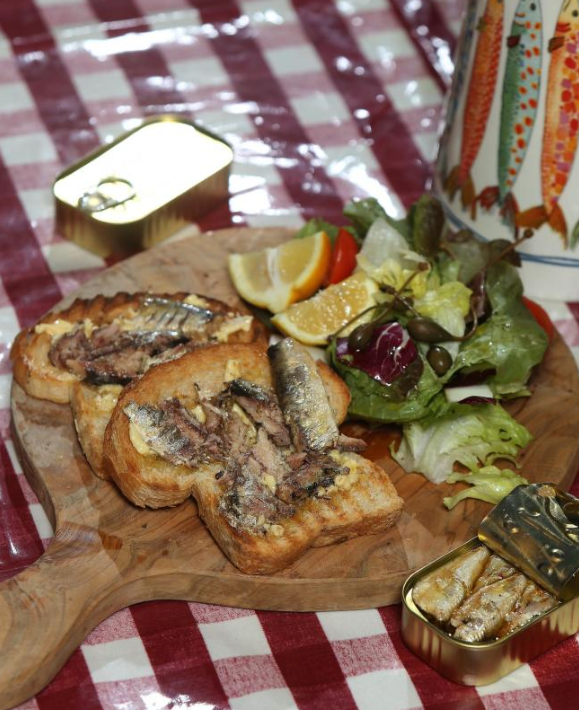 Mary Contini's sardines on toast