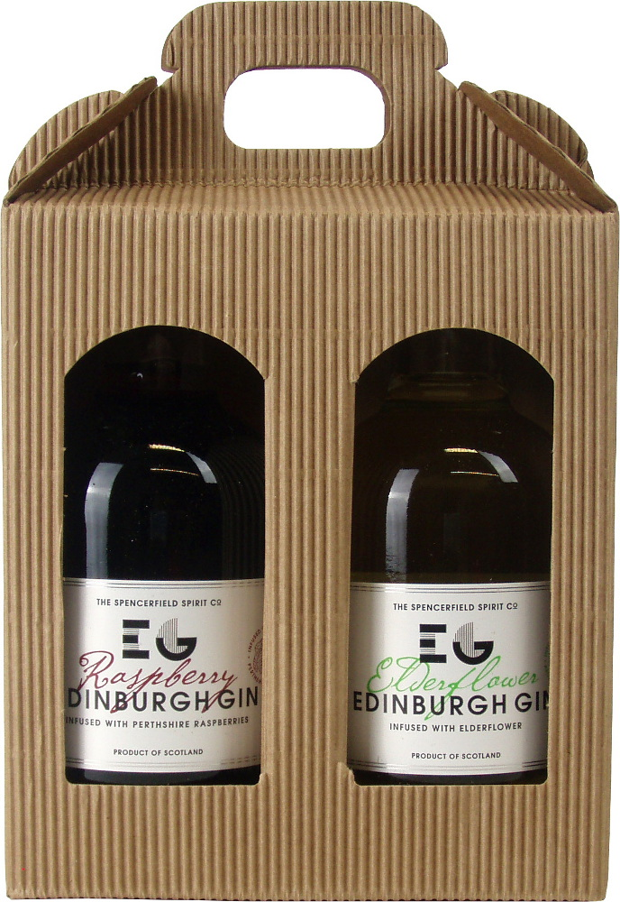 Edinburgh Gin Twin Gift Raspberry & Elderflower 2 x 20cl