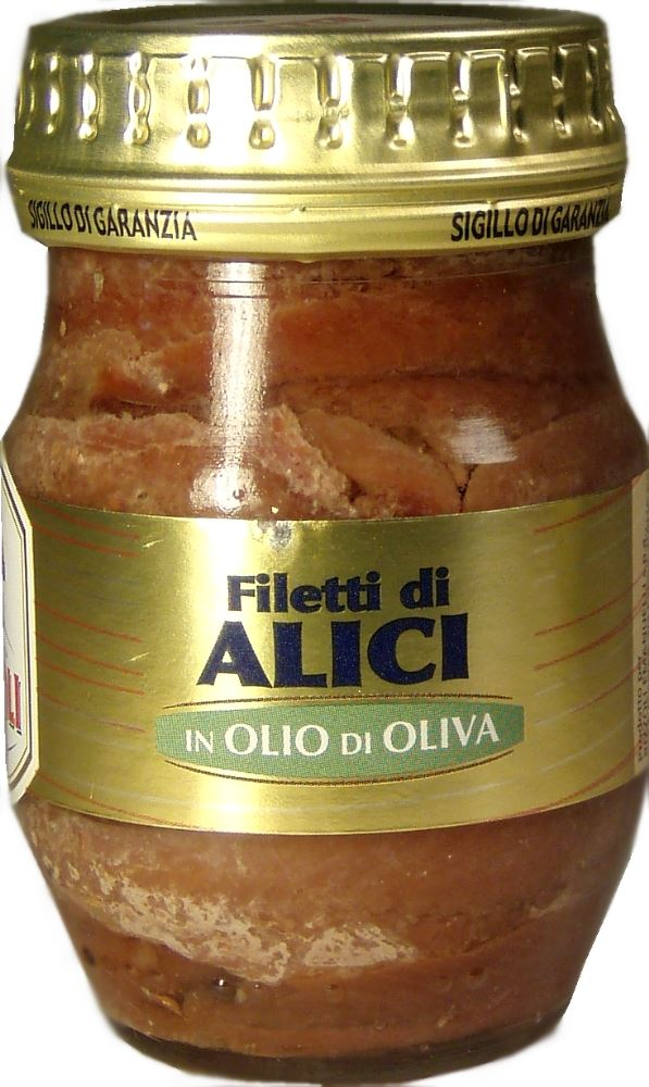 Anchovy Fillet in Olive Oil Jar Rizzoli 90g