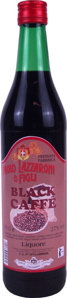 Black Coffee Liqueur 27% Lazzaroni 70cl
