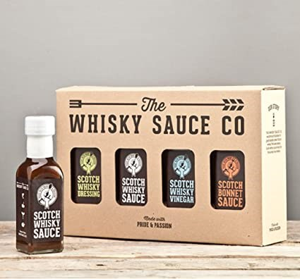 Whisky Sauce Four Bottle Gift Set