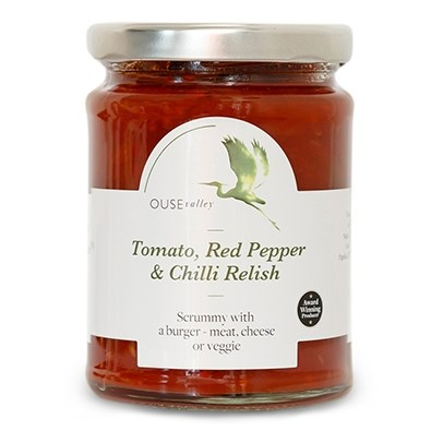 Tomato, Red Pepper & Chilli Relish 290g Ouse Valley