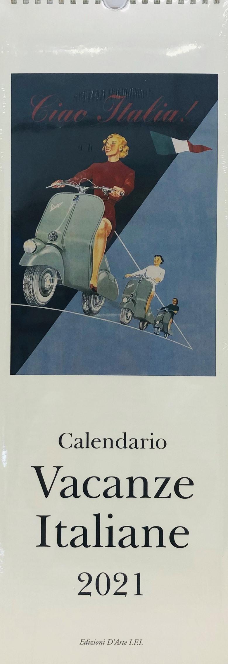 Italian Long Calendar Vacanze Italiane 2021 | CALE3818