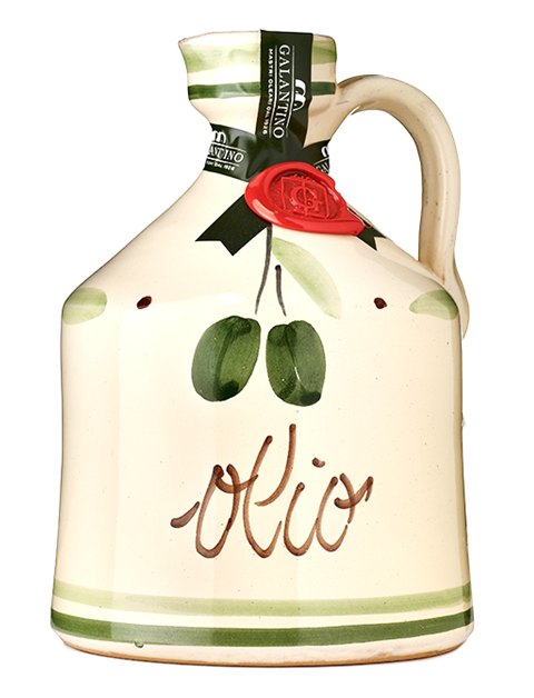 "Classic Ceramic Jar ""Olio"" Extra Virgin Olive Oil Galantino 50cl"