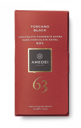 Toscano Black 63% Chocolate Bar Amedei 50g
