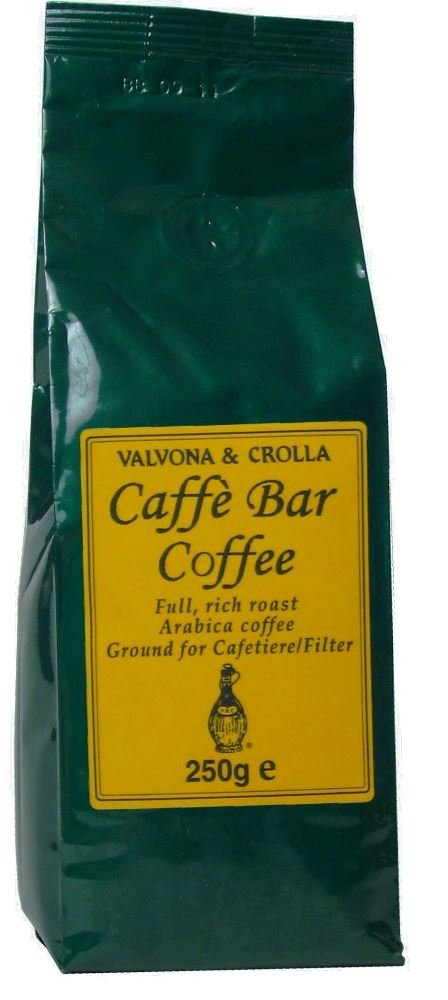 V&C Caffe Bar Coffee Cafetiere/Filter Ground 250g